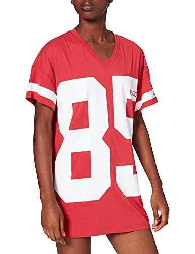 Tommy Hilfiger Dress SS Fashion Camisn, Belleza Americana, S para Mujer