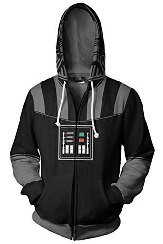 RedJade Sudadera con Capucha Imprimir con Capucha Tops Chaqueta Camisa de Jersey Chaqueta de Sudor Desgastar Camisa de Jersey Saltador Star Guerras Darth Vader