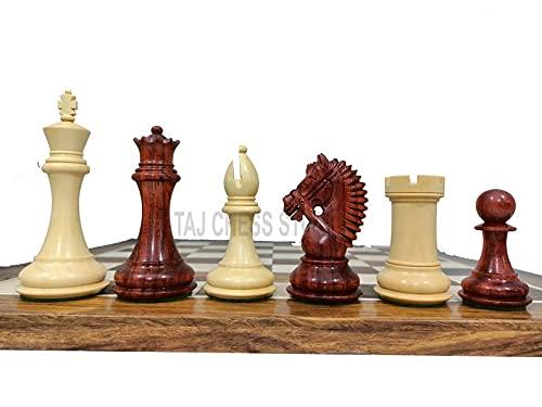 Desconocido Generic Piezas de ajedrez American Knight Staunton - Juego de ajedrez de Palisandro con Brote de Doble Peso Americano Staunton de 4 '  Juego de ajedrez de Lujo   Tienda de ajedrez Taj