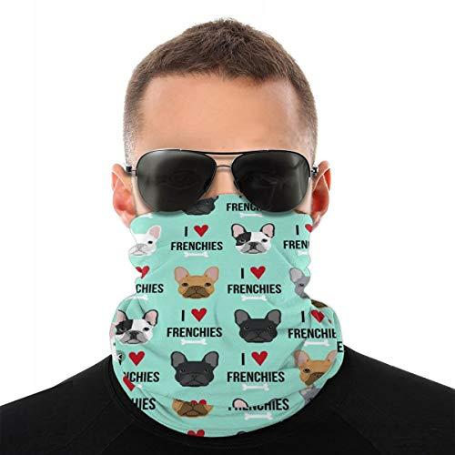 French Bulldog Puppy Men & Women Face Cover Bandana, Multifunctional Headband Scarf Neck Gaiter Balaclava