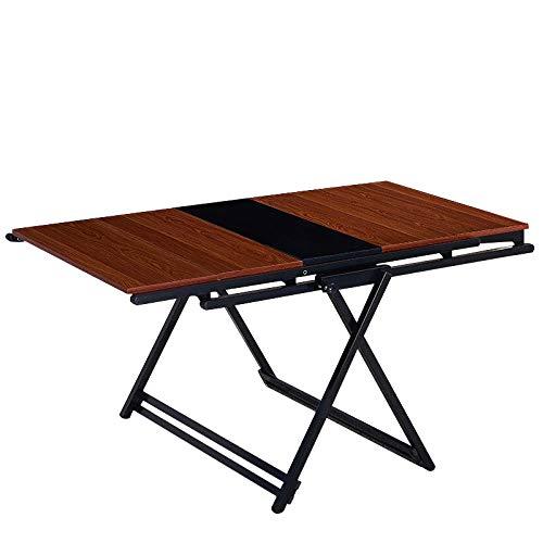 DX klaptafel multifunctionele meerlaagse bloem standaard variabele tafel balkonplank teak kleur 5 lagen