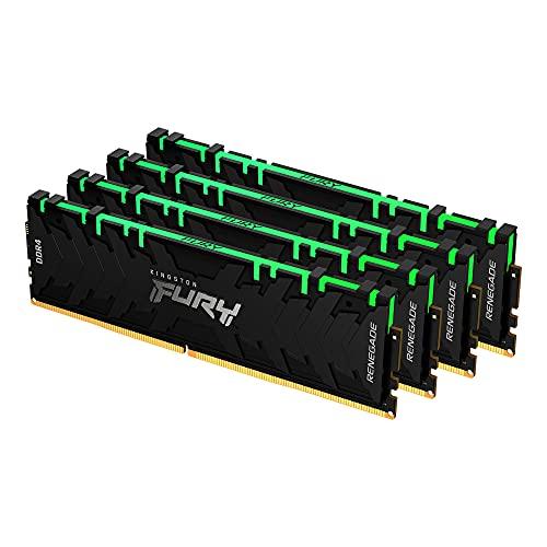 Kingston FURY Renegade RGB 64GB 4x16GB 3600MHz DDR4 CL16 Mémoire Kit pour PC Kit de 4 KF436C16RB1AK4/64