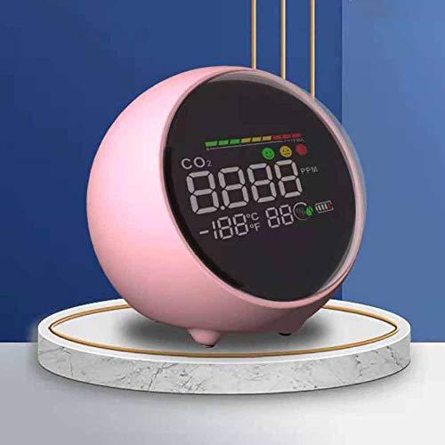 4-In-1-Digital-Innenhygrometer-Thermometer, LuftqualitäTsmonitor, Innen-Co2-Monitor, Innenthermometer-Feuchtigkeitsmesser, Tragbarer LuftqualitäTsmonitor, Kohlendioxid-Tester-Detektor, Nachtlicht