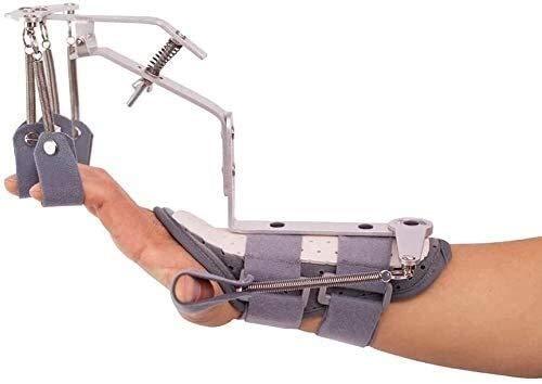 AY Entrenamiento de rehabilitación de ortoticos de muñeca portátil, Entrenador de Dedos Reutilizable para Ejercicio de Pacientes con Trazo
