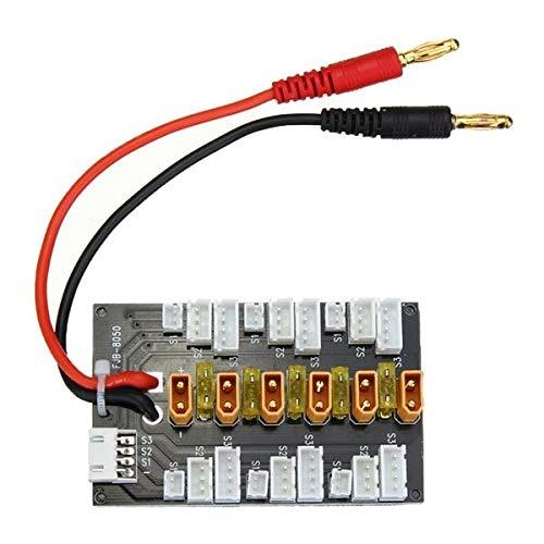 Umwandlung Brett XT30 1S-3S LiPo-Akku Parallel Charging Adapter Board-Erweiterungskarte mit symmetrischem Kabelstecker Ladegerät