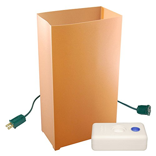 LumaBase 32310 10 Count Electric Luminaria Kit, Tan