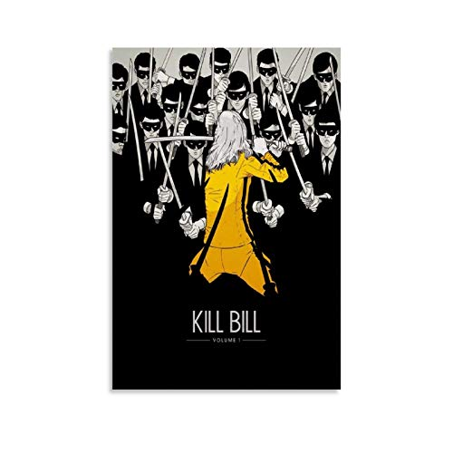 ACMED Kill Bill Movie Poster Art Canvas Art Poster and Wall Art Picture Print Modern Family Bedroom Decor Posters 20x30inch(50x75cm)