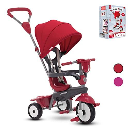SmarTrike - Triciclo Breeze Plus per bambini di 1,2,3 anni, 4 in 1, trike multistadio, rosso