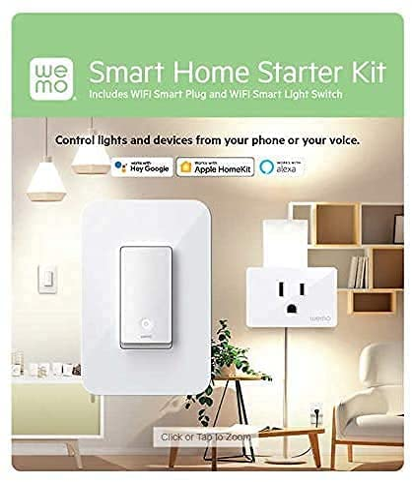 Wemo Smart Home Starter Kit Smart Plug and Switch