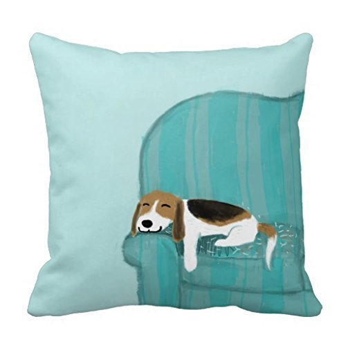 Ximger Happy Sofa Dog - Federa Decorativa per Cuscino da Divano, 45,7 cm