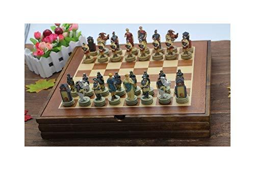 LINMAN Die alte Ägypten Serie feigen Schach Set Harz Zeichen Puppe Schach Set Klassische Cartoon Schach Set Nizza Geschenk
