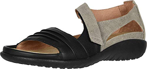 Naot Footwear Women's Papaki Sandal Speckled Beige Lthr/Soft Black Lthr 9 M US
