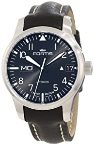 Fortis Men's 700.10.81 L.01 F-43 'Flieger' Black Leather Strap Automatic Watch image