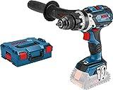 Bosch Professional - Taladro percutor inalámbrico sistema 18V GSB 18V-110 C (par máximo 110 Nm, sin baterías ni cargador, en L-BOXX 136)