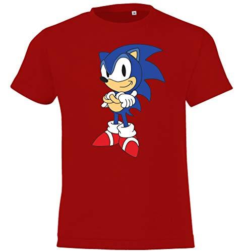 Youth Designz - Maglietta per bambini, modello Sonic 2', unisex, taglia: 104-152 (4-12 anni) / In diversi colori Colore: rosso 8 anni