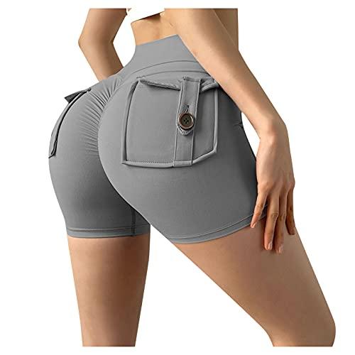 ldgr High Waist Butt Lift Short Leggings for Women Biker Running Yoga Tennis Workout Shorts with Pockets