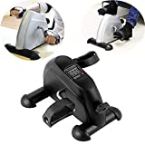 Portable Desk Mini Bike Pedal Exerciser, Arm and Leg Foot Pedal Machine, With LCD Screen Display, Suitable for Old Man Health Care Rehabilitation