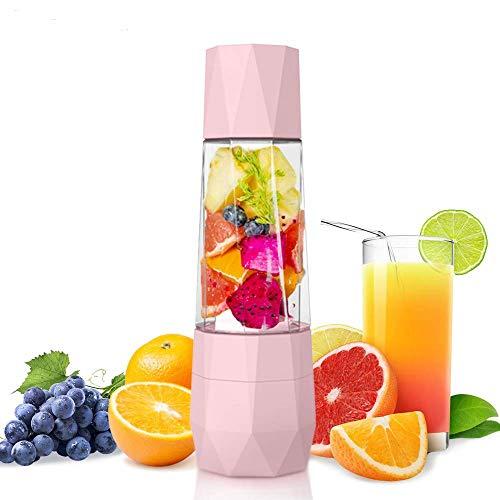 YFGQBCP Personal Blender - Portable Smoothies Maker - Juice Juicer Recargable con Tapa de vacío Anti oxidación for Deportes al Aire Libre en Viajes (Color : Pink)