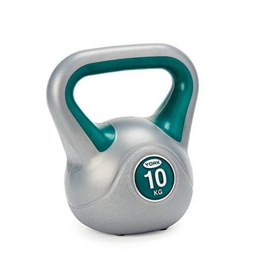 York Fitness Vinyl Kettlebell, Dark Green, 10kg