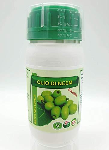 FITOKEM Olio di NEEM Biologico per Piante idrosolubile 100% Naturale Contro Insetti e parassiti 250 ml