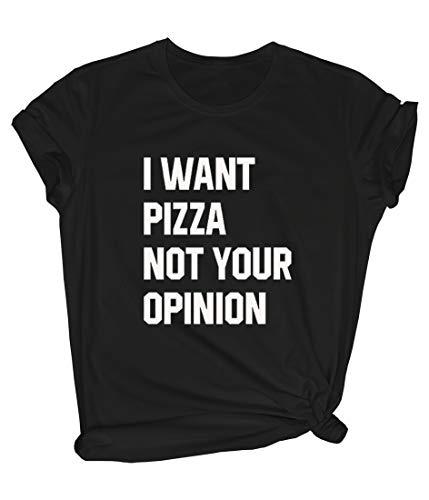 BLACKMYTH Women's Cute Graphic T Shirt Funny Tops Teen Girl Tees Black Medium