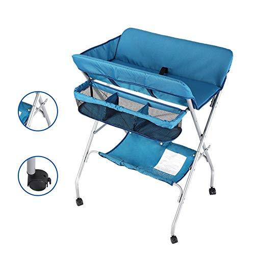 Tables à langer Pliable De Bébé, Poste À Langer Portatif pour Le Tissu Changeant/l'espace De Soin/Stockage De Massage, Bleu (Color : Style2)