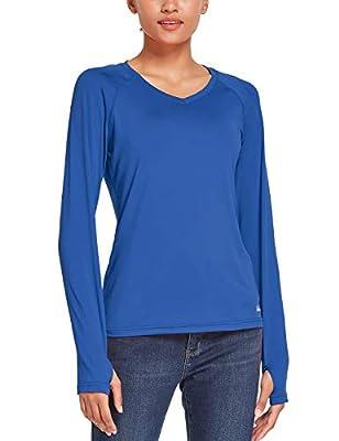 BALEAF Women's UPF 50+ Sweatshirt T-Shirt SPF Long Sleeve Dri Fit Lightweight Shirt Outdoor Hiking Fishing Blue XL