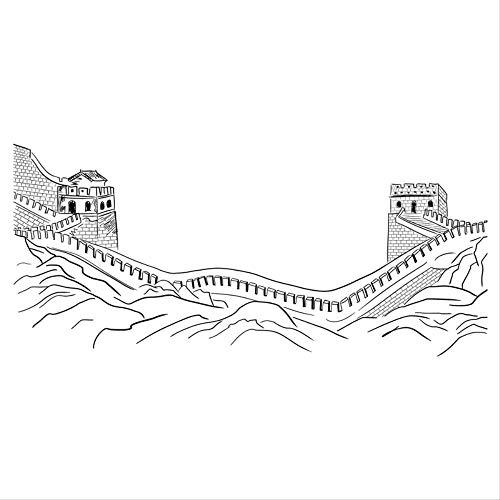 Modern Minimalist World Famous Building China Great Wall Sticker Shousing Dormitory Xuanguan Wall Creative Personality Wall Paste Self-Adhesive