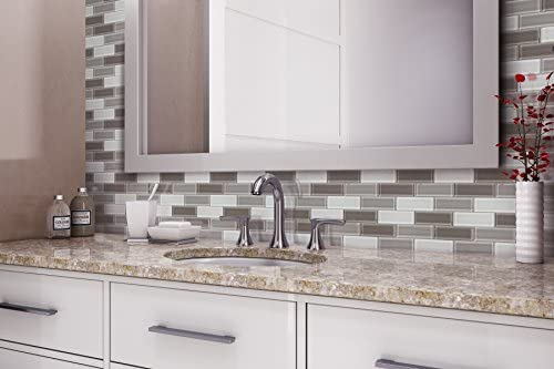 Amazon Com Mto0174 Modern 2x6 Linear Brown Gray White Glossy Molded Glass Mosaic Tile Home Kitchen