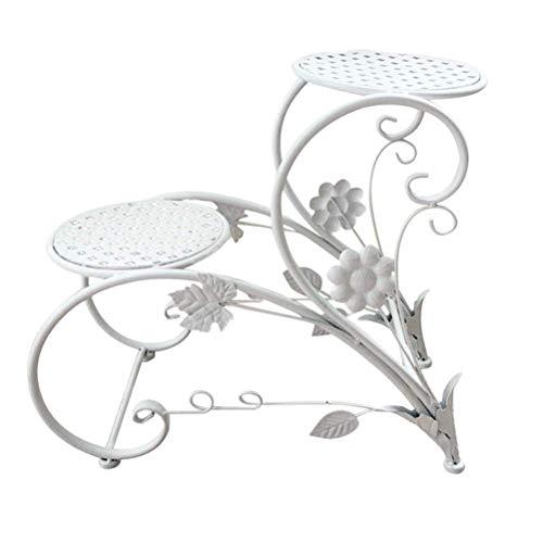 ZTMN Metalen bloemenrek voor binnen en buiten, hoekplank, bloempot, plantenhouder, plantenbak, display rek, huistuin, decoratie, zwart