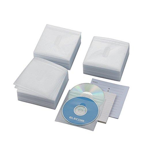『エレコム DVD BD CDケース 不織布 両面収納 300枚入 60枚収納可 ホワイト CCD-NIW300WH』のトップ画像