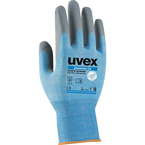 Uvex Phynomic C5 Schnittschutzhandschuhe - 1 Paar Schnittfestig Arbeitshandschuhe 09/L
