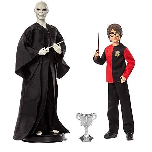 Harry Potter GNR38 - Harry Potter Geschenkset für Sammler mit Voldemort-Puppe und Harry Potter-Puppe