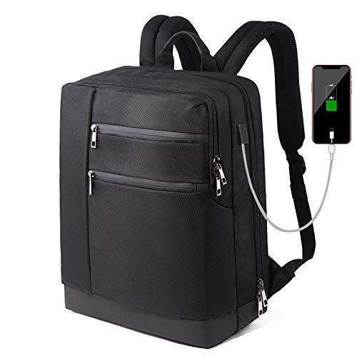 UYIDE Mochila para Computadora Portátil, Mochila De Negocios, Mochila Impermeable Multifuncional con USB Recargable, Adecuada para Viajes De Negocios, Campamentos, Viajes