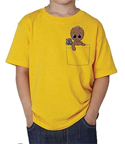 Camiseta de NIÑOS Guardianes de la Galaxia Groot Rocket Star Lord Drax Gamora 037 7-8 Años