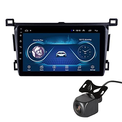 GLXQIJ para Toyota RAV4 2013-2018 Android 10.0 FM Radio Receptor Auto Audio Player Coche Estéreo De 9 Pulgadas Pantalla Táctil Monitor GPS Navegación, 4 Core +WiFi, con Camara Trasera,4+64G