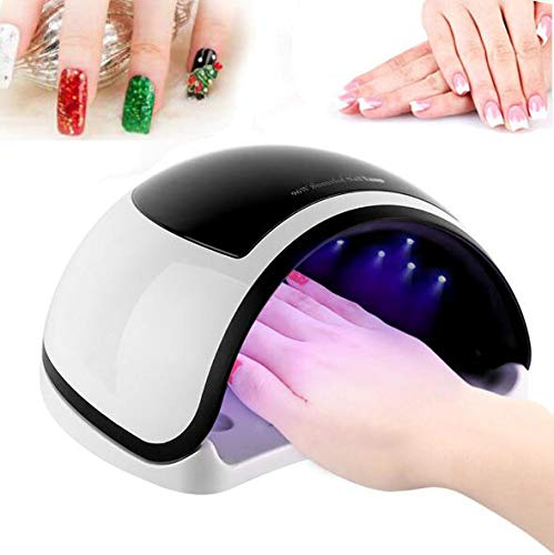 XINYIZI nageldroger LED/UV-lamp voor nagels, 96 W, draagbare UV-nagellamp, led-nageldroger, infrarood sensor, afneembare magneetplaat, LCD-display, 10S/30S/60S/99S timer, cadeau voor dames