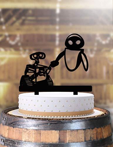 Wall E and Eve Robots Nerd Wedding Cake Topper