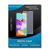 swido pellicola protettiva per samsung galaxy a41 [crystal clear], cristallino, transparente, invisibile, ultra resistente, effetto anti-impronte - proteggi schermo