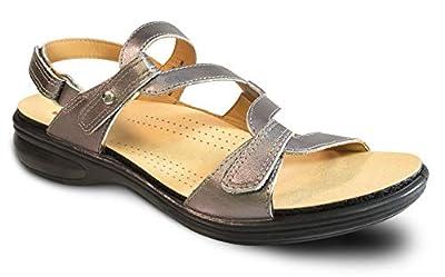 Revere Miami - Women's Adjustable Sandal Gunmetal - 8 Medium