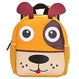 BAIGIO Mochila Infantil Kindergarten,Pequeñas Mochilas Bolsas Escolares de Dibujos Animados Animales para Niñas Primaria Linda Bolso Bebe Guarderia Preescolar para 2-7 Años (Cachorro, 21 * 8 * 26cm)