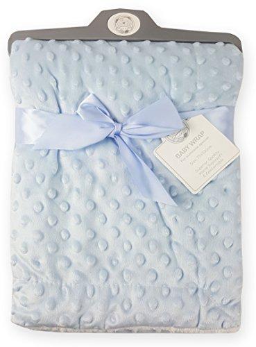 Couverture à bulles en velours super doux pour bébé garçons filles en différentes couleurs 907 (Bleu)