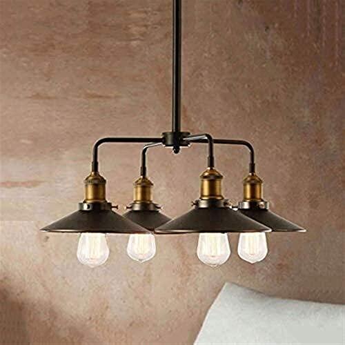 candelabro LQ Lámpara de luz del Colgante de Techo Retro Vintage Americano País Sala de Estar Sala de Estar Comedor Chandelier Bar Sombrilla Creativa lámpara Colgante