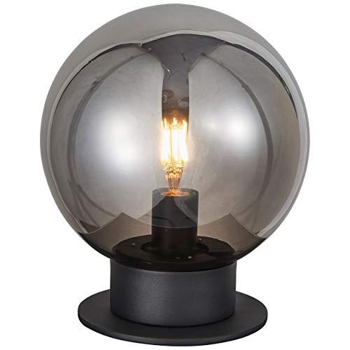 BRILLIANT lamp Astro tafellamp 25cm zwart/rookglas |1x A60, E27, 60W, geschikt voor standaardlampen (niet inbegrepen) |Schaal A ++ tot E |Met snoerschakelaar