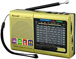 M/AM/SW (1-7) 9-Wave Band Smar-US Rechargeable Portable Professional Radio That can be Used as MP3 and Speakers by Connecting Bluetooth, USB Sticks and Memory Cards