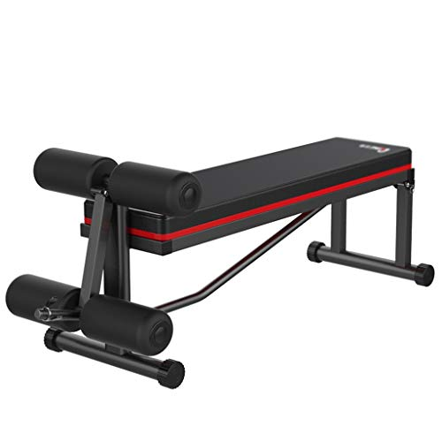 PHH Hantelbank Zu Hause Fitness Stuhl Sit-up Board Bauchtrainer Multi-Funktions-Kraftbank, Lager 200KG (Color : Black, Size : 120 * 41 * 55CM)