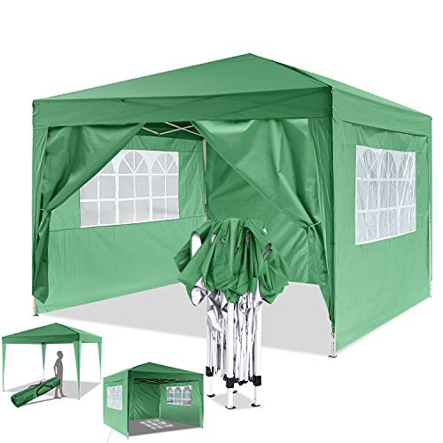 Bunao [UK STOCK] 3x3mtr Pop Up Garden Canopy Waterproof Gazebo Camping Tent Shelter Outdoors (Green)