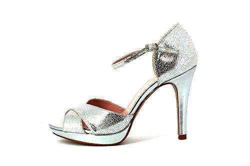Sandalia Plataforma plata-Plata-36