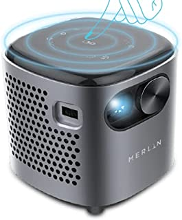 Merlin CUBE Mini NEW, Pocket Size Projector, with Netflix and Youtube, 250 inch screen, 3 hours working time Grey