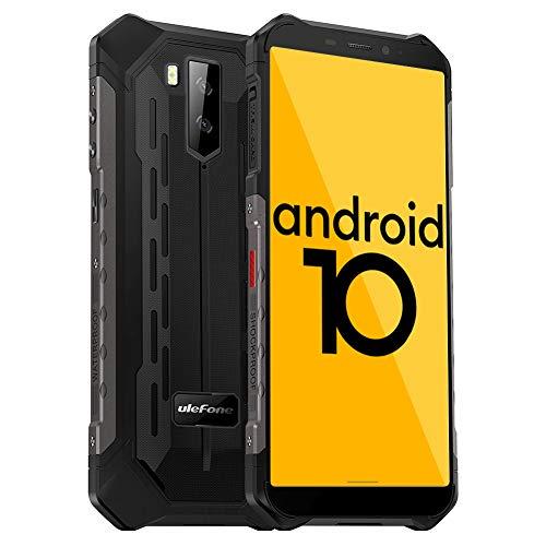 Ulefone Armor X5 Outdoor Handy - Android 10.0 Smartphones Ohne Vertrag IP68/IP69K Wasserdicht Stoßfest Staubdicht 4G hanyds Dual SIM 3GB RAM 32GB ROM 5,5-Zoll-Bildschirm 5000mAh Akku (Schwarz)